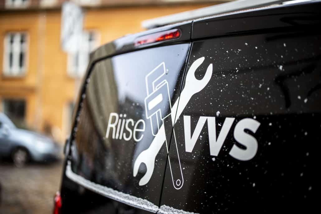 varevogn fra riise vvs på østerbro til vvs service hos privat og erhverv